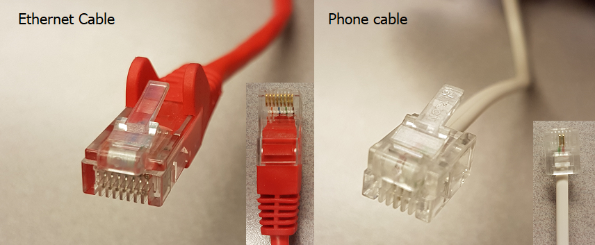 Ethernet to phone cable comparison